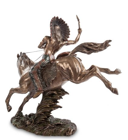 "Статуэтка ""Индеец на коне"" WS-441"