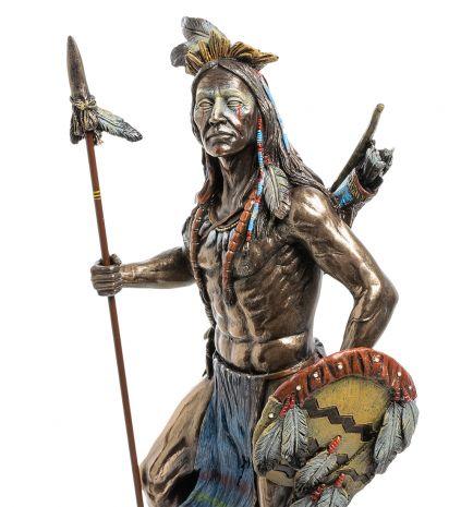 Статуэтка Индеец с копьем и щитом WS-620