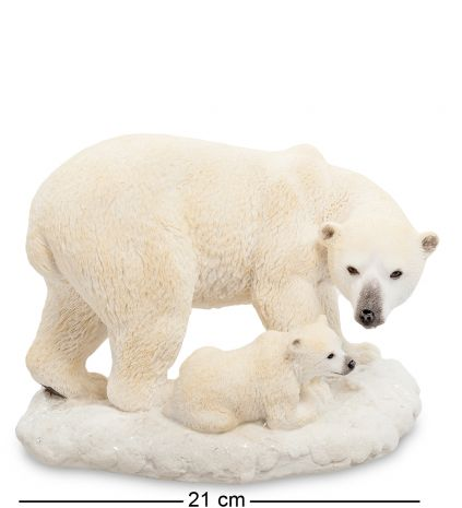 """Статуэтка """"Белый медведь с детенышем"""""""