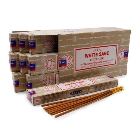 Благовония Satya Masala White Sage Белый шалфей 450WhS