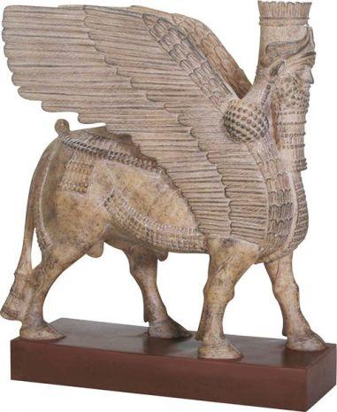 Ассирийский крылатый человекобык Ламассу MU-010