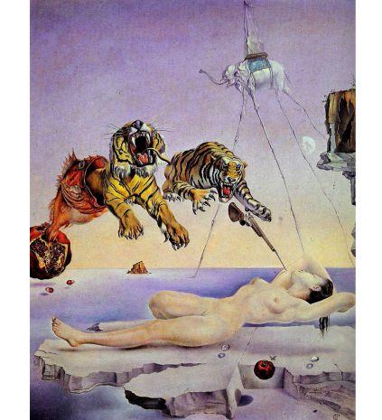 Фрагмент картины Сон, вызванный полетом пчелы... (Сальвадор Дали) pr-SD09
