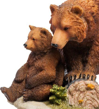 Статуэтка Бурый медведь с детенышем