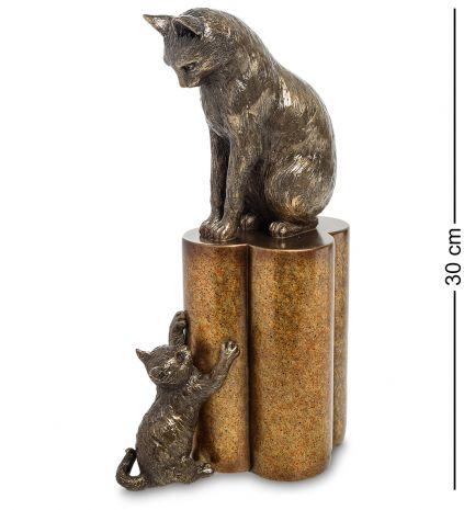 """Статуэтка """"Кошка с котенком - воспитание"""""""