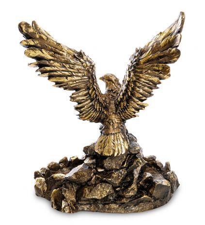 """Подставка """"Орел на камнях с поднятыми крыльями"""""""