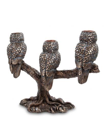 Подсвечник Три совы
