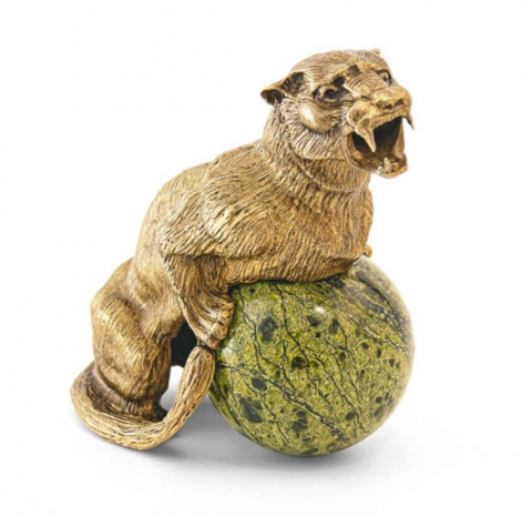 Статуэтка Пантера на шаре (бронза) UB-035