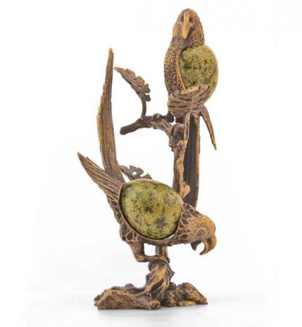 Статуэтка «Попугаи на ветке»