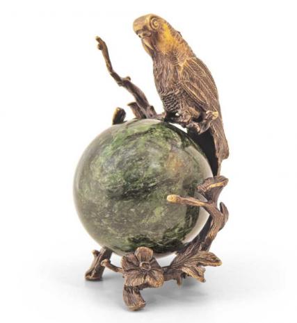 Статуэтка «Попугай на шаре»