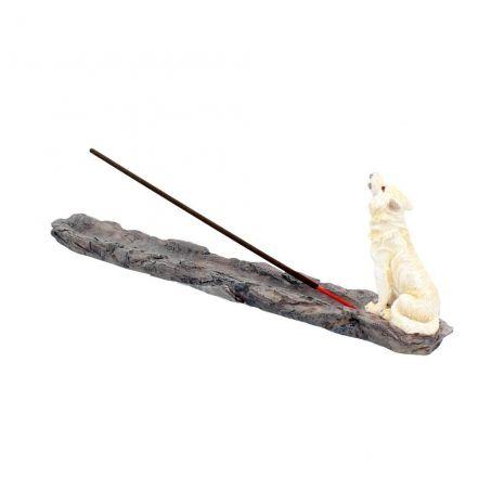 Подставка для благовоний Белый волк H2516G6