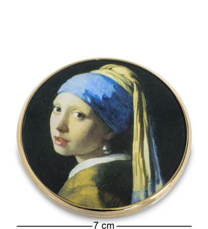 """Зеркальце """"Девушка с жемчужной сережкой"""" (Ян Вермеер) pr-M28VE"""