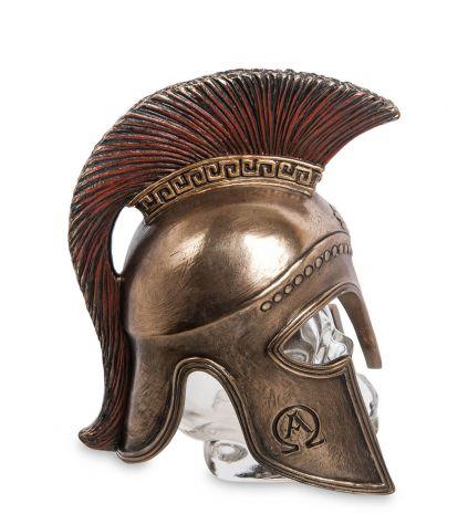 """Флакон """"Спартанский шлем на стеклянном черепе"""" WS-1027"""