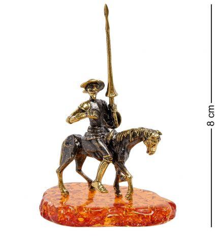 "Фигурка ""Дон Кихот на коне"" (янтарь, латунь) AM-2119"