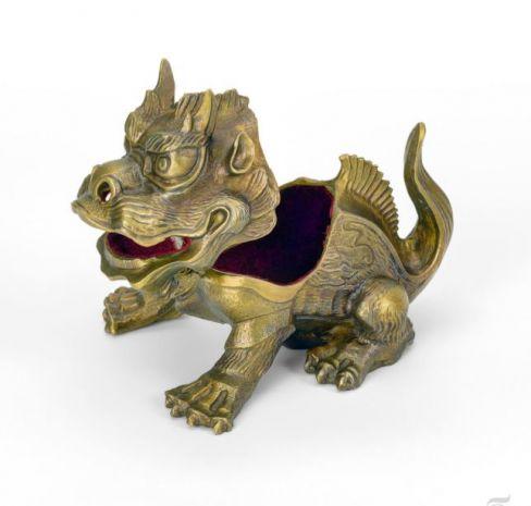 """Шкатулка """"Китайский дракон"""" (бронза) UB-066"""