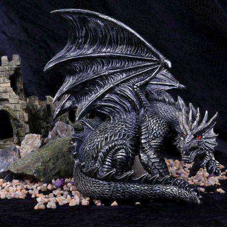 """Статуэтка """"Обсидиановый дракон"""" B4366M8"""