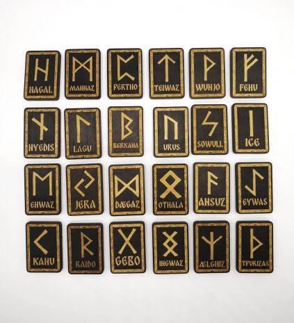 Набор прямоугольных скандинавских рун (24 шт) RE-087