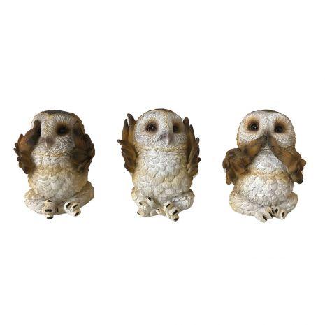 """Набор фигурок """"Три мудрые совы"""" U4462N9"""