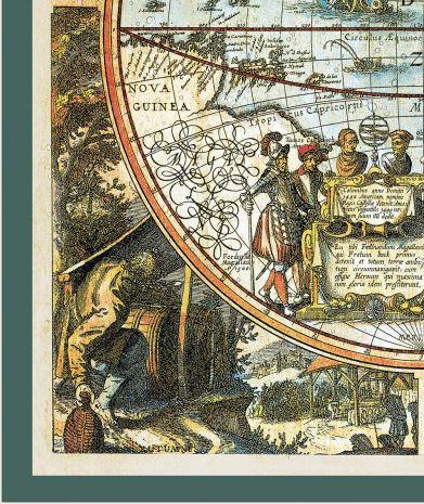 Большая карта мира, 1683 г, 114х84см, в багете KU-0071-B