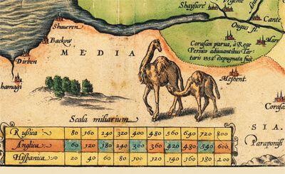 Карта России, Московии и Тартарии, 1562 г., 84х64 см в багете KU-0041-B