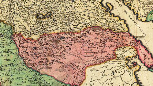 Новая карта всей империи Великой России 1728 г., 84х64 см в багете KU-0061-B