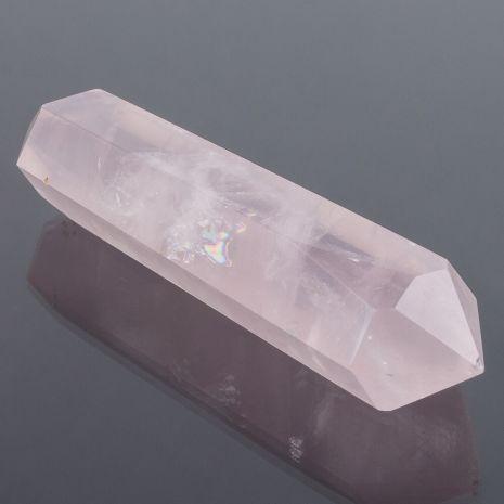 Кристалл двухконечный из Розового кварца (Мадагаскар) 90/95 мм RS-110