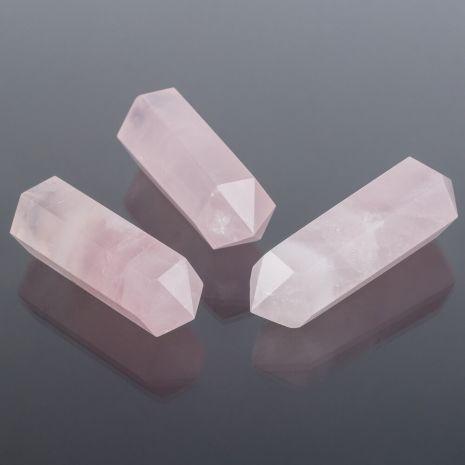 Кристалл двухконечный Розового кварца (Мадагаскар) 65-70 мм RS-079355