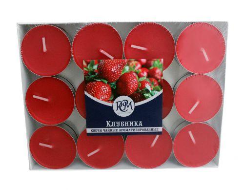 Свечи чайные КЛУБНИКА 24 шт 1202403