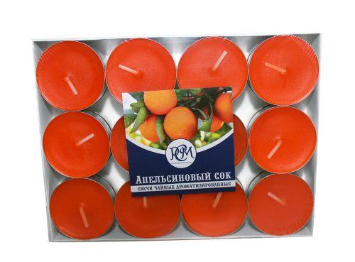 """Свечи чайные """"Апельсиновый Сок"""" 24 шт 1202408"""