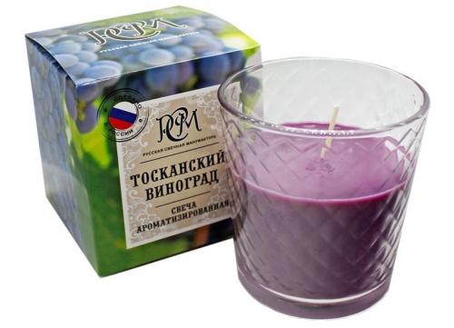"""Свеча в стакане """"Тосканский Виноград"""" 3113012"""