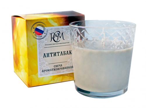 Свеча в стекле Антитабак,30ч. 3113027