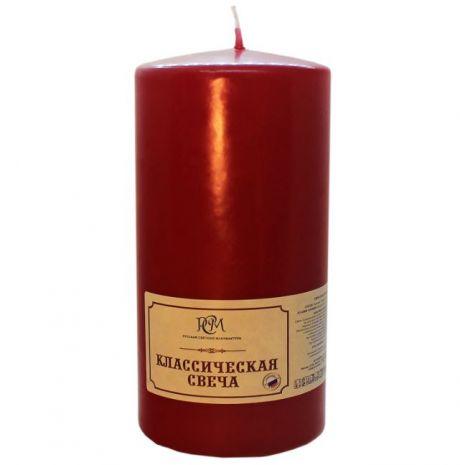 Свеча Классическая 150*70 бордовая 6115706