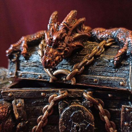 """Шкатулка """"Красный дракон"""" AL-105"""
