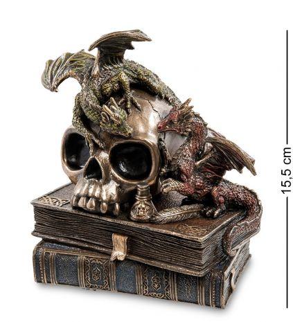 """Статуэтка """"Драконы на черепе и книгах"""" WS-919"""