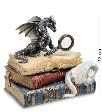 "Шкатулка ""Дракон на книгах"" WS-844"