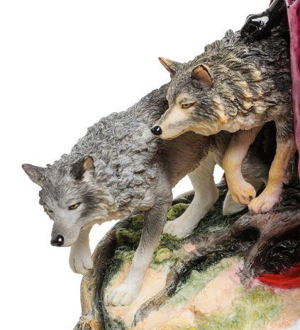 """Статуэтка """"Девушка и волки"""" (Р. Томпсон) WS-263"""