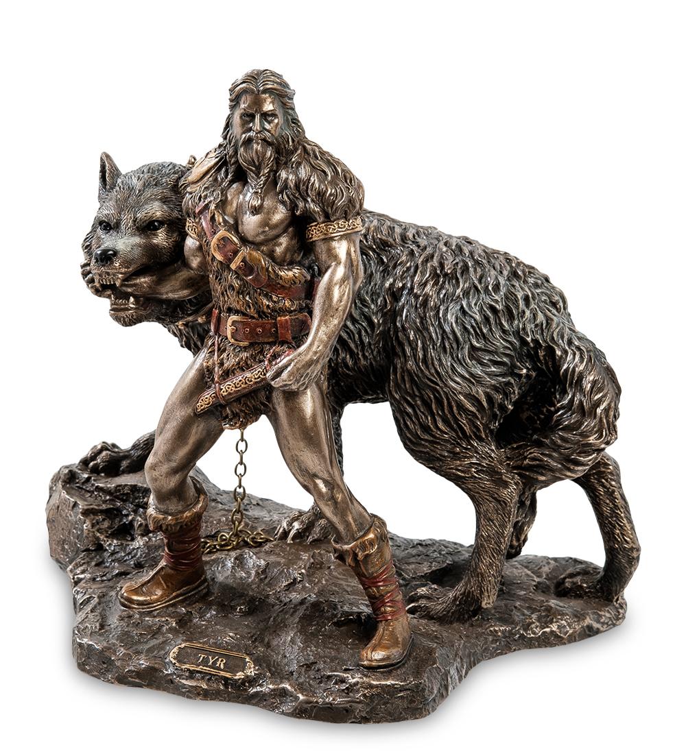 """Статуэтка """"Тюр - бог воинской храбрости и Враг богов - Фенрир"""""""