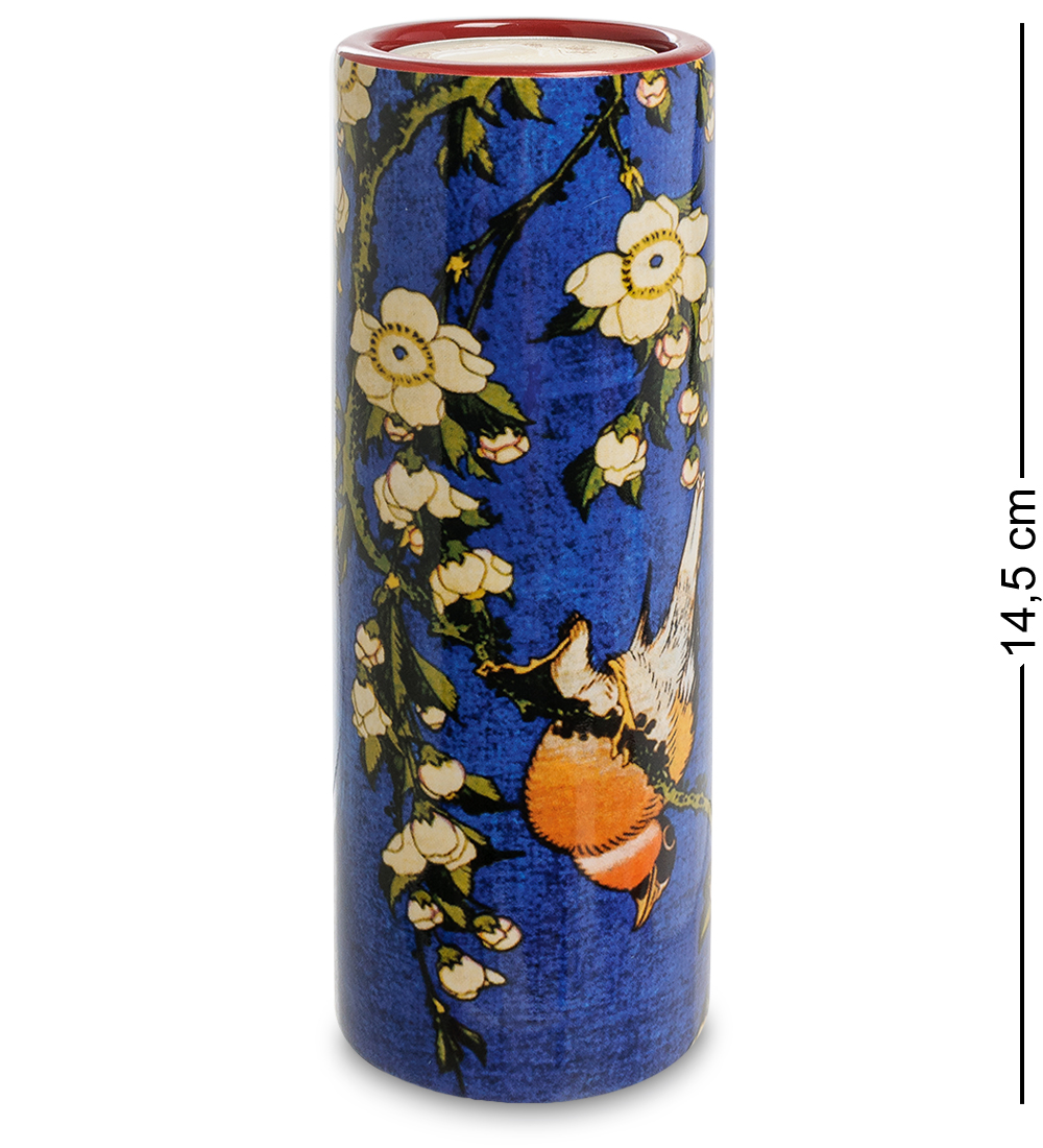"Подсвечник ""Bullfinch and Blossoms"" (Кацусика Хокусай)"